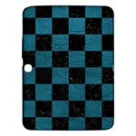 SQUARE1 BLACK MARBLE & TEAL LEATHER Samsung Galaxy Tab 3 (10.1 ) P5200 Hardshell Case
