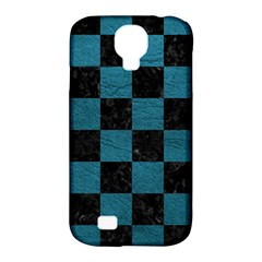 SQUARE1 BLACK MARBLE & TEAL LEATHER Samsung Galaxy S4 Classic Hardshell Case (PC+Silicone)