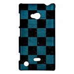 SQUARE1 BLACK MARBLE & TEAL LEATHER Nokia Lumia 720