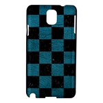SQUARE1 BLACK MARBLE & TEAL LEATHER Samsung Galaxy Note 3 N9005 Hardshell Case