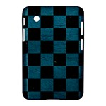 SQUARE1 BLACK MARBLE & TEAL LEATHER Samsung Galaxy Tab 2 (7 ) P3100 Hardshell Case