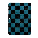 SQUARE1 BLACK MARBLE & TEAL LEATHER Samsung Galaxy Tab 2 (10.1 ) P5100 Hardshell Case