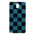 SQUARE1 BLACK MARBLE & TEAL LEATHER Samsung Galaxy Note 3 N9005 Hardshell Back Case