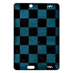 SQUARE1 BLACK MARBLE & TEAL LEATHER Amazon Kindle Fire HD (2013) Hardshell Case
