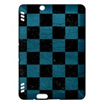 SQUARE1 BLACK MARBLE & TEAL LEATHER Kindle Fire HDX Hardshell Case