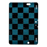 SQUARE1 BLACK MARBLE & TEAL LEATHER Kindle Fire HDX 8.9  Hardshell Case