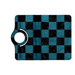 SQUARE1 BLACK MARBLE & TEAL LEATHER Kindle Fire HD (2013) Flip 360 Case