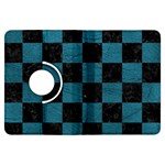 SQUARE1 BLACK MARBLE & TEAL LEATHER Kindle Fire HDX Flip 360 Case