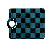 SQUARE1 BLACK MARBLE & TEAL LEATHER Kindle Fire HDX 8.9  Flip 360 Case