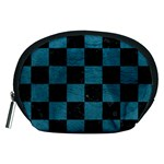 SQUARE1 BLACK MARBLE & TEAL LEATHER Accessory Pouches (Medium)
