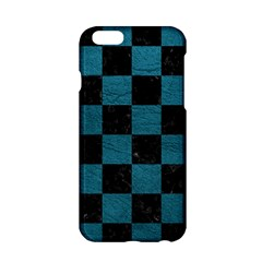 Square1 Black Marble & Teal Leather Apple Iphone 6/6s Hardshell Case by trendistuff
