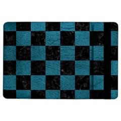 SQUARE1 BLACK MARBLE & TEAL LEATHER iPad Air 2 Flip