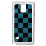 SQUARE1 BLACK MARBLE & TEAL LEATHER Samsung Galaxy Note 4 Case (White)