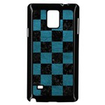 SQUARE1 BLACK MARBLE & TEAL LEATHER Samsung Galaxy Note 4 Case (Black)