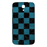 SQUARE1 BLACK MARBLE & TEAL LEATHER Samsung Galaxy Mega I9200 Hardshell Back Case