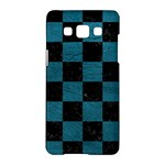 SQUARE1 BLACK MARBLE & TEAL LEATHER Samsung Galaxy A5 Hardshell Case