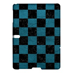 SQUARE1 BLACK MARBLE & TEAL LEATHER Samsung Galaxy Tab S (10.5 ) Hardshell Case
