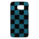 SQUARE1 BLACK MARBLE & TEAL LEATHER Galaxy S6