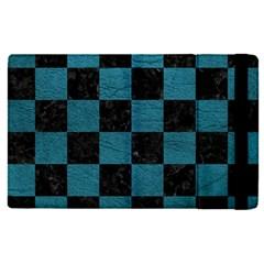 SQUARE1 BLACK MARBLE & TEAL LEATHER Apple iPad Pro 12.9   Flip Case