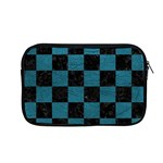 SQUARE1 BLACK MARBLE & TEAL LEATHER Apple MacBook Pro 13  Zipper Case