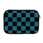 SQUARE1 BLACK MARBLE & TEAL LEATHER Apple MacBook Pro 17  Zipper Case