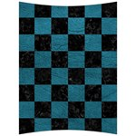 SQUARE1 BLACK MARBLE & TEAL LEATHER Back Support Cushion