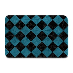 Square2 Black Marble & Teal Leather Plate Mats by trendistuff