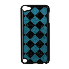 Square2 Black Marble & Teal Leather Apple Ipod Touch 5 Case (black) by trendistuff