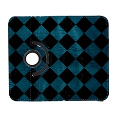 Square2 Black Marble & Teal Leather Galaxy S3 (flip/folio) by trendistuff