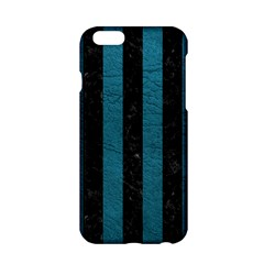 Stripes1 Black Marble & Teal Leather Apple Iphone 6/6s Hardshell Case by trendistuff