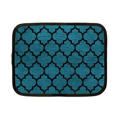 Tile1 Black Marble & Teal Leather Netbook Case (small)  by trendistuff