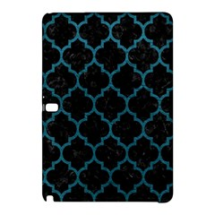 Tile1 Black Marble & Teal Leather (r) Samsung Galaxy Tab Pro 12 2 Hardshell Case by trendistuff