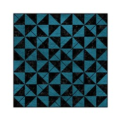 Triangle1 Black Marble & Teal Leather Acrylic Tangram Puzzle (6  X 6 ) by trendistuff