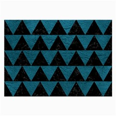 Triangle2 Black Marble & Teal Leather Large Glasses Cloth by trendistuff