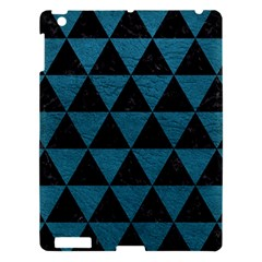 Triangle3 Black Marble & Teal Leather Apple Ipad 3/4 Hardshell Case by trendistuff