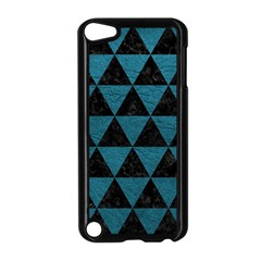 Triangle3 Black Marble & Teal Leather Apple Ipod Touch 5 Case (black) by trendistuff
