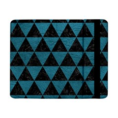 Triangle3 Black Marble & Teal Leather Samsung Galaxy Tab Pro 8 4  Flip Case