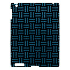 Woven1 Black Marble & Teal Leather (r) Apple Ipad 3/4 Hardshell Case by trendistuff