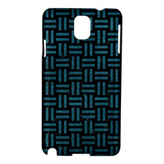 Woven1 Black Marble & Teal Leather (r) Samsung Galaxy Note 3 N9005 Hardshell Case by trendistuff