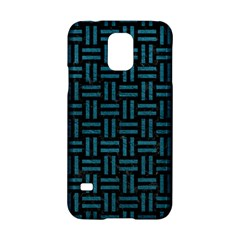 Woven1 Black Marble & Teal Leather (r) Samsung Galaxy S5 Hardshell Case  by trendistuff