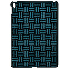 Woven1 Black Marble & Teal Leather (r) Apple Ipad Pro 9 7   Black Seamless Case by trendistuff