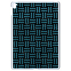 Woven1 Black Marble & Teal Leather (r) Apple Ipad Pro 9 7   White Seamless Case by trendistuff