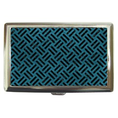 Woven2 Black Marble & Teal Leather Cigarette Money Cases by trendistuff