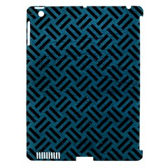 Woven2 Black Marble & Teal Leather Apple Ipad 3/4 Hardshell Case (compatible With Smart Cover) by trendistuff