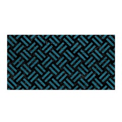Woven2 Black Marble & Teal Leather (r) Satin Wrap