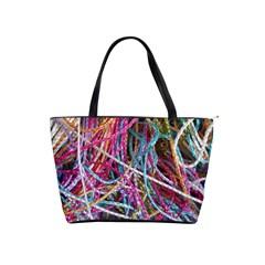 Funny Colorful Yarn Pattern Shoulder Handbags by yoursparklingshop