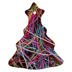 Funny Colorful Yarn Pattern Ornament (christmas Tree)  by yoursparklingshop