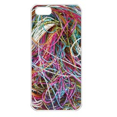 Funny Colorful Yarn Pattern Apple Iphone 5 Seamless Case (white) by yoursparklingshop