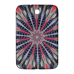 Red White Blue Kaleidoscopic Star Flower Design Samsung Galaxy Note 8 0 N5100 Hardshell Case  by yoursparklingshop