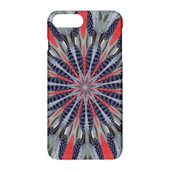 Red White Blue Kaleidoscopic Star Flower Design Apple Iphone 8 Plus Hardshell Case by yoursparklingshop